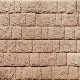 Декоративни панели Дялан камък - 120 x 20 x 3,3 см, цвят глина