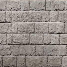 Декоративни панели Дялан камък - 120 x 20 x 3,3 см, цвят светло сив