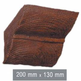 Imagén: Конзола за полиуретанова греда - тъмна  20см - 13см