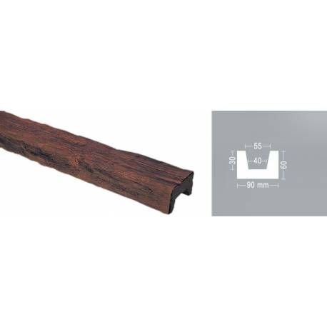 Декоративна полиуретанова греда - / 2м / 9см х 6см / 6 бр.в кашон