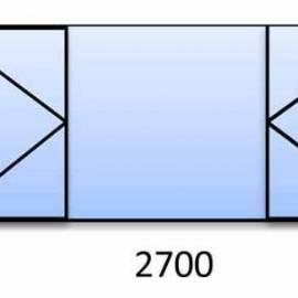 PVC прозорец 1570-2700 мм. 3 камерна цветна