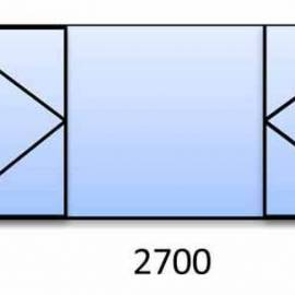PVC прозорец 1570-2700 мм. 5 камерна цветна