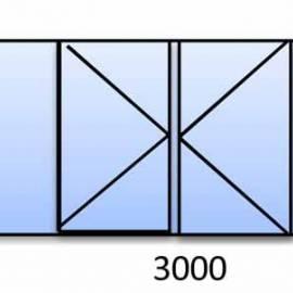 PVC прозорец 1500-3000 мм 5 камерна бяла