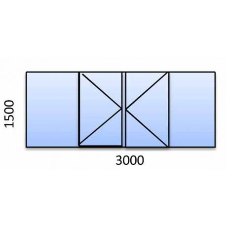 PVC прозорец 1500-3000 мм. 5 камерна цветна