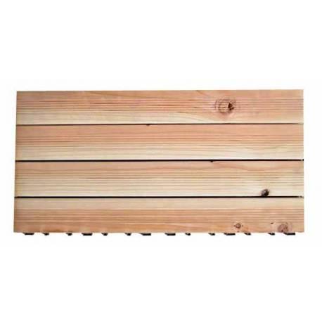 Дървени плочки с клик система - 60x30 см