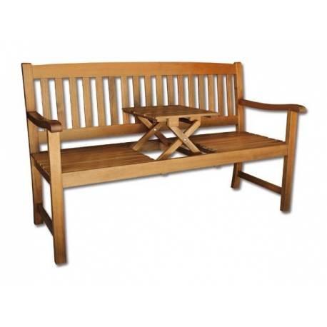 Дървена пейка - двуместна с масичка