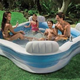 Imagén: Семеен басейн с облегалки Family Lounge - 229х229х66 см