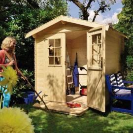 Дървена градинска къща - 2 x 1.80 м