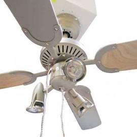 Вентилатор Монсерат - 4 перки, осветление 3 x60W