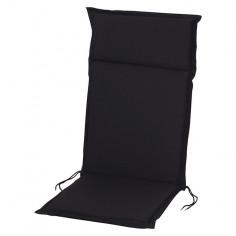 Възглавница за стол  - Черна, 121x47x4 cм