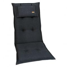 Възглавница за стол - Антрацит, 120x52x8 cм
