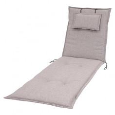 Възглавница за шезлон - Светлосива, 190x60x8 см
