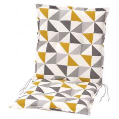 Възглавница за стол - Жълта/бежова/сива, 98x49x6 cм