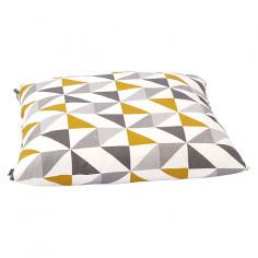 Декоративна възглавница - Жълта/бежова/сива, 60x60x13 cм