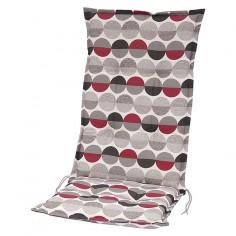 Възглавница за стол - Бежова/сива/червена, 117x49x6 cм
