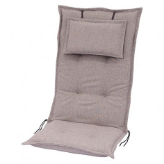 Възглавница за стол - Светлосива, 120x52x8 cм