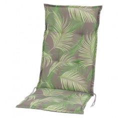 Възглавница за стол - Зелена/сива/бежова, 117x49x6 cм