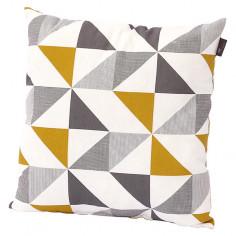Декоративна възглавница - Жълта/бежова/сива, 45x45x10 cм