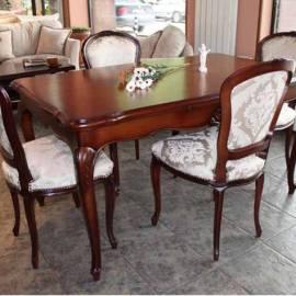 Масивна маса със 6 стола - 150x90