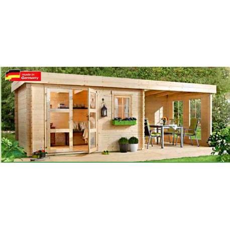 Дървена градинска къща - 5.80 x 2.50 м