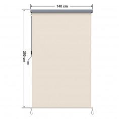 Imagén: Вертикална тента за тераса - 1,4 x 2,5 м, с манивела, бежова