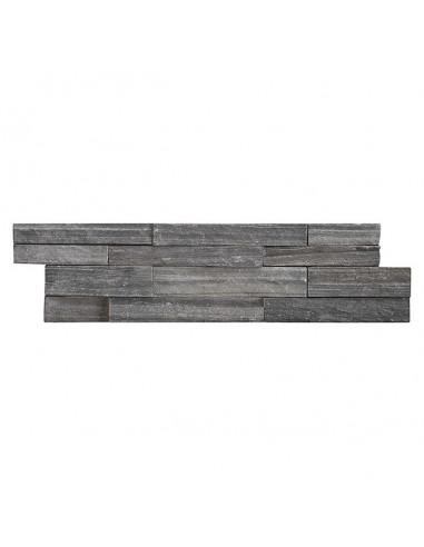 Естествен камък - 10 x 40 см, черно-сив