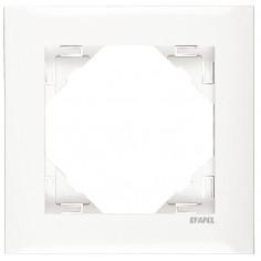 Рамка за единичен ключ - бяла