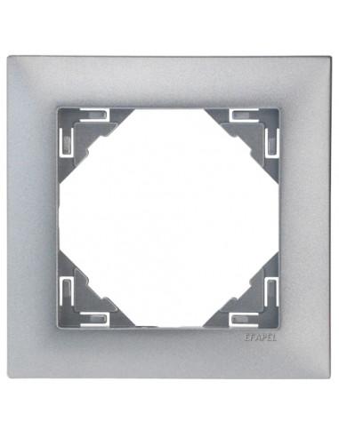 Рамка за единичен ключ - цвят алуминий