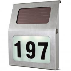 Соларна лампа - LED номер на къща 2XLED 200 3x00 инокс