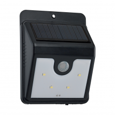 Соларна лампа - LED Аплик черно