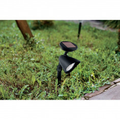 Соларна лампа - LED колче черно
