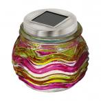 Соларна лампа - LED в жълто-розов цвят