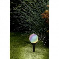 Соларна лампа-LED RGB топка DM200 бяло кол
