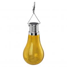 Соларна лампа - LED висяща жълта