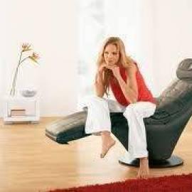 Масажен стол  YAGO - естествена кожа - черен