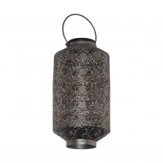 Соларна лампа - LED фенер сребро-антик
