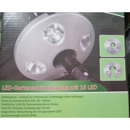 LED осветление за чадър