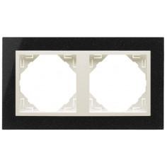 Двойна рамка + бутон - серия Petra, гранитна рамка