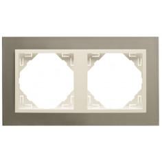 Двойна рамка + бутони - серия Metallo