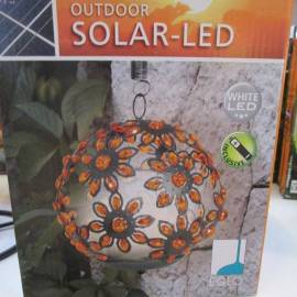 LED соларна топка с цветя