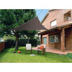 Imagén: Сенник триъгълна форма SUN-NET KIT  3.6 x 3.6 x 3.6m полиестер/кафяв
