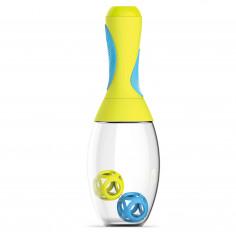 """Imagén: Бутилка-шейкър с отделение за добавки """"SAMBA"""" - 600 мл - жълто/синьо - ASOBU"""