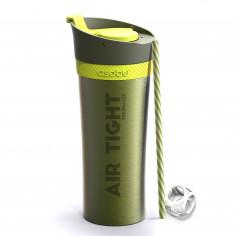 """Двустенна термо чаша """"FRESH N GO"""" с вакуумна изолация и система AIR PUMP - 500 мл - цвят зелена - ASOBU"""