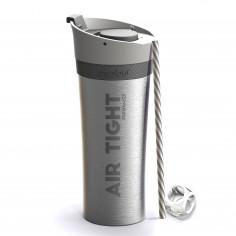 """Двустенна термо чаша """"FRESH N GO"""" с вакуумна изолация и система AIR PUMP - 500 мл - цвят сребрист - ASOBU"""