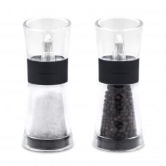 """Комплект мелнички за сол и пипер """"FLIP"""" - 15,4 см. - черни - COLE & MASON"""