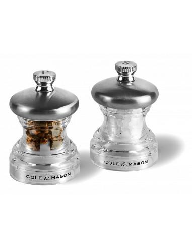 """Комплект мелнички за сол и пипер """"PO3"""" - 6,5 см. - COLE & MASON"""