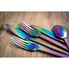 """Imagén: Комплект прибори за хранене """"SPIGA""""- 36 части - Rainbow / дъга / - PVD покритие - HERDMAR"""