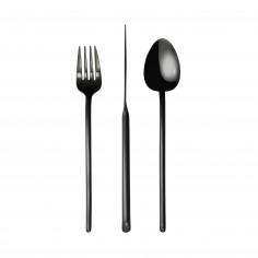"""Комплект прибори за хранене """"STICK""""- 36 части - черен мат - PVD покритие - HERDMAR"""
