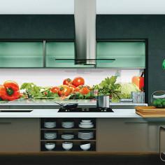 Imagén: Кулинария - термоустойчив гръб за кухня - гланц,, 1830 x 604 х 8 мм