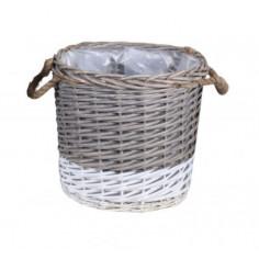 Плетена кашпа с дръжки -...